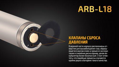 Аккумулятор Fenix ARB-L18 Li-ion 18650