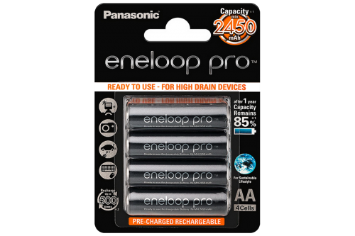 Аккумулятор AA Eneloop Pro 2450 мАч, 4 шт
