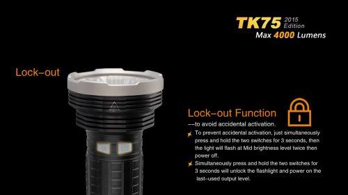 Fenix TK75 2015 яркий супермощный поисковый тактический фонарь
