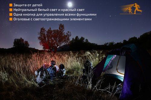 HL16 - это туристический налобный фонарь, специально разработанный для родителей и детей