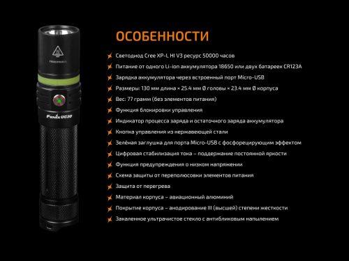высокотехнологичный фонарь с функциями